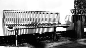 seat, street, metal bench, furniture