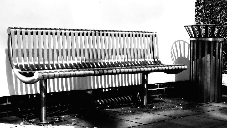 siège, rue, banc en métal, meubles