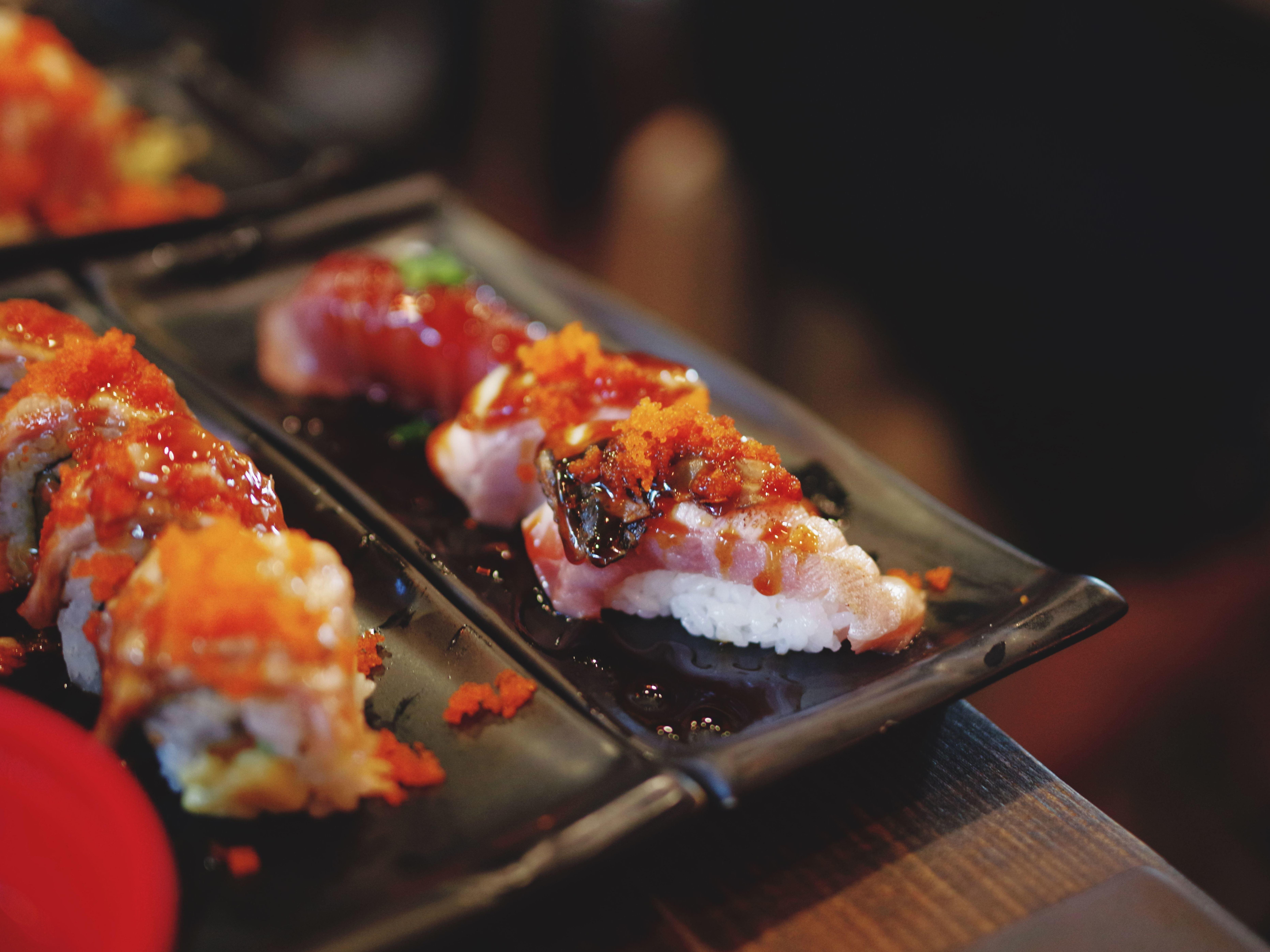 Gambar Gratis Daging Nasi Makanan Laut Sushi Makanan Jepang