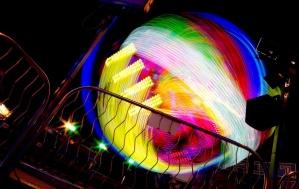 fun, colorful, lights, night