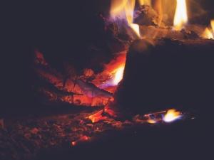 огън, камина, пламъци, дърво, парене, нощни