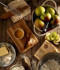 mat, recept, kosthold, frukt, nøtter, kjøkken, epler, mel