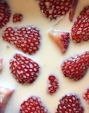 food, strawberry, red, fruit, diet, milk