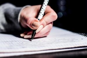 main, stylo, écriture, notes, école, étudiant, l'apprentissage, l'université