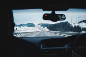 高速道路、インテリア、車、道路、人