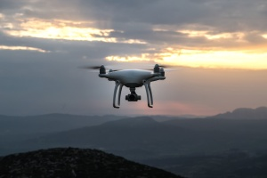 drone, dusk, mountains, sunrise, sunset, dusk