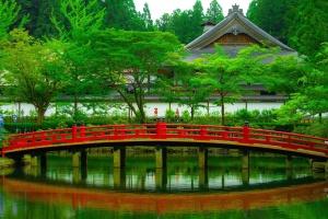 wooden bridge, Asia, bridge, traditional