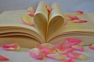 Valentine's day, book, romantic, love, literature, petals