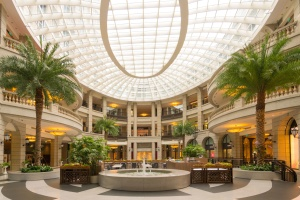 shopping mall, interior, decoration, business, ceiling, contemporary, fountain