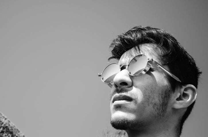 man, photoshoot, reflection, selfie, portrait, sunglasses