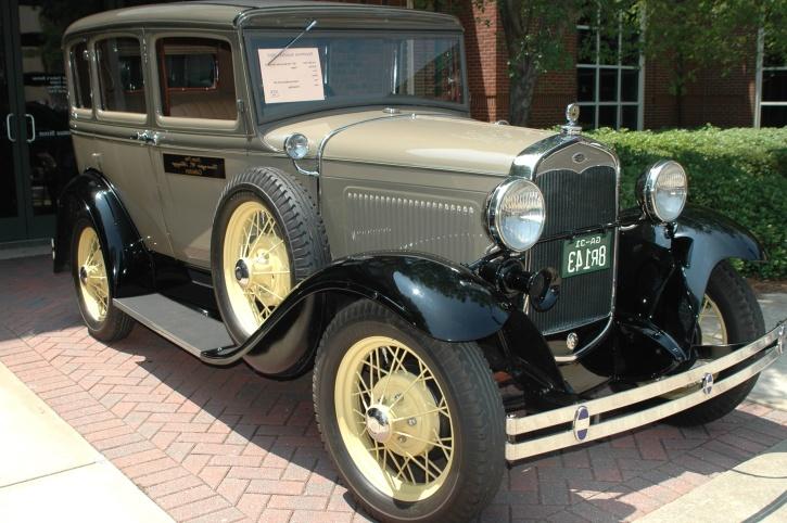 automobile, retro, shiny, chrome, classic, oldtimer, car