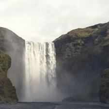 river, water, waterfalls, mountain, nature