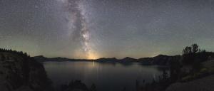 cosmos, crater, lake, astronomy, galaxy, night