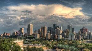 cielo, nubes, céntrico, ciudad, amanecer, atardecer, rascacielos, viaje, urbano