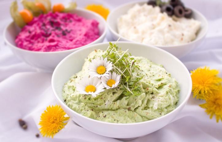 flowers, food, spread, diet, breakfast, bowls