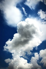 blue sky, cloud, cloudy, daytime