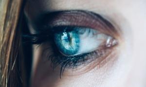 donna, occhi, ciglia, pelle, faccia