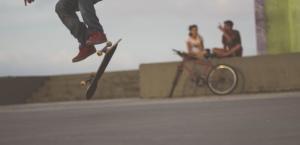 skok, ljudi, klizati, sport