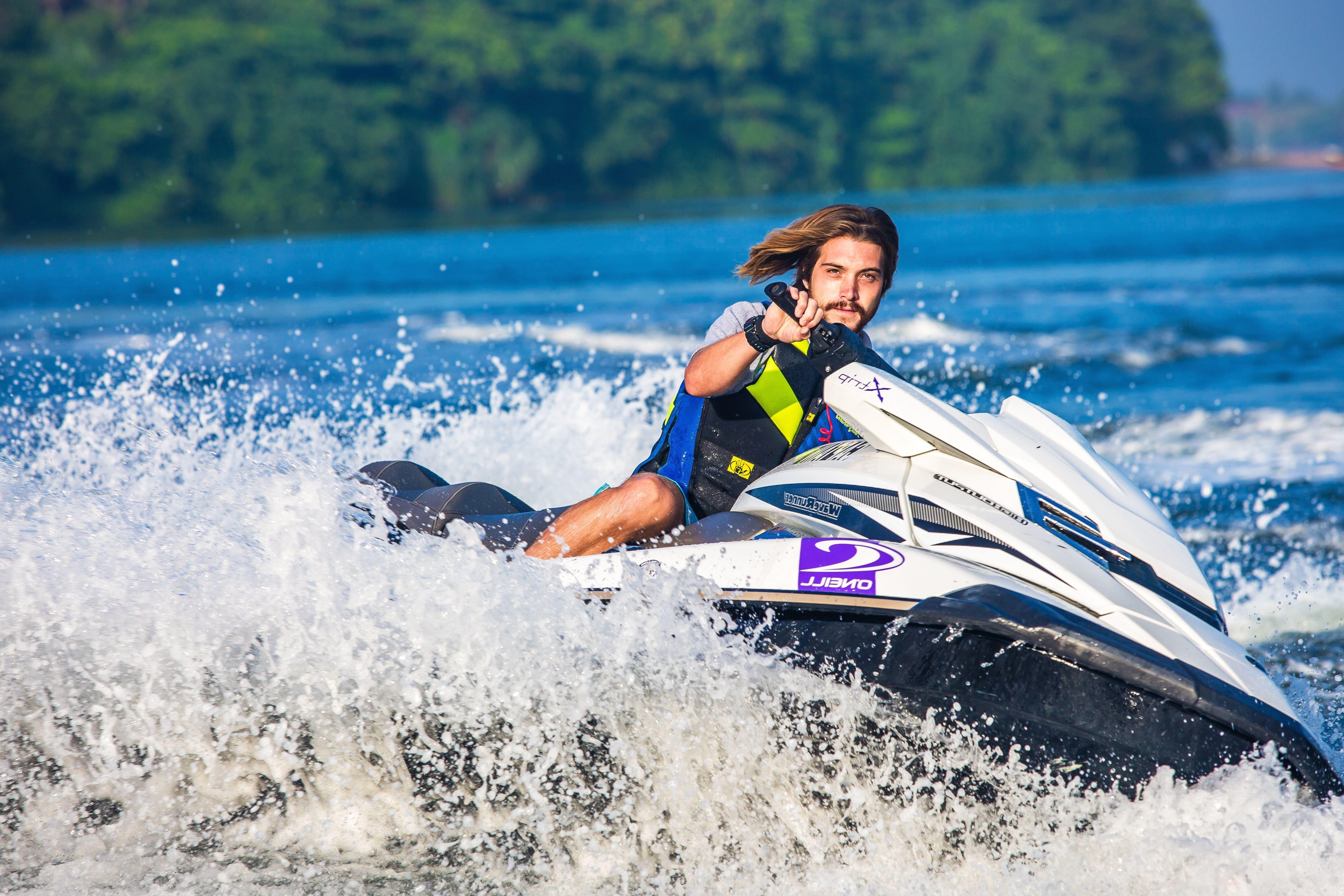 Free picture: watercraft, waves, splash, sport, jet ski ...