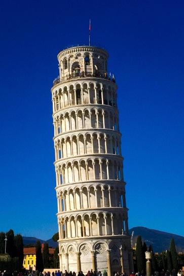 Italia, Pisas lutande torn, torn, sommar, resa, turistattraktion