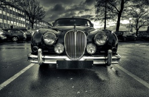 clasic car, black, white, luxury, rich, street, oldtimer
