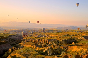 landscape, hot air balloon, freedom, aerial, adventure, sport, sky