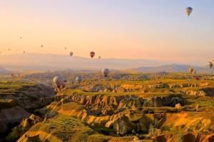 krajolik, vrući zrak balon, sloboda, antenu, avantura, sportski, nebo