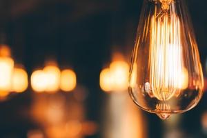 lights, idea, dark, electronics, electricity, bulb, close, vintage, retro, antique, old
