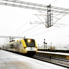 train station, lights, night, rails, train, steel, cables, transportation, rail