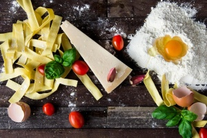pasta, cheese, egg, food, Italian food, ingredient, cuisine, meal, recipe, spaghetti