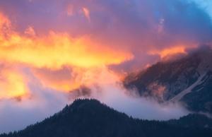 céu, nuvens, nevoeiro, picos de montanha, névoa, natureza, deserto, florestas, nebulosa, montanhas