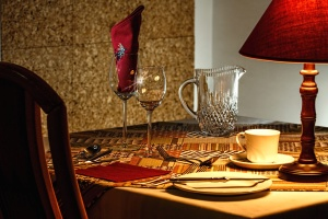 dining room, interior, chair, hotel, lamp, luxury, tableware