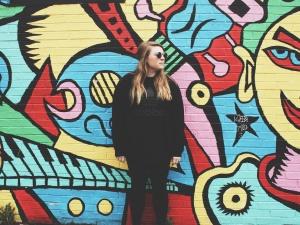 zid, žene, moda, šarene, umjetnost, umjetnički, prelijepa, osoba