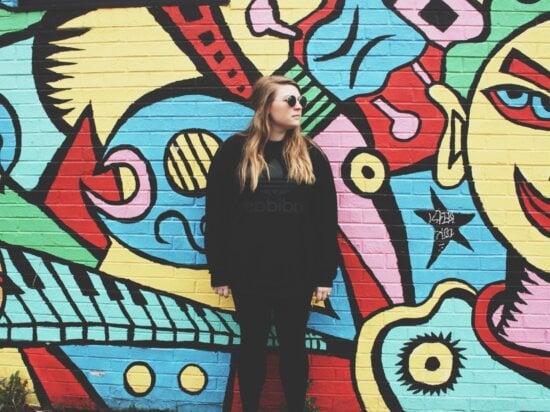 wall, woman, fashion, colorful, art, artistic, beautiful, person