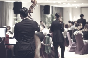 dining, music band, restaurant, musicians, celebration