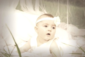 baby, veil, white, childhood, cute, child, face