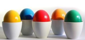 διακόσμηση Πασχαλινά αυγά, πολύχρωμα, εύγευστο, φαγητό