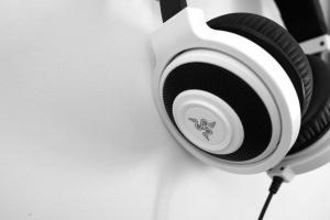 aparato, sonido, altavoces, tecnología, blanco
