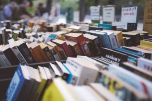 collectie, boeken, boekhandel, schoolboeken