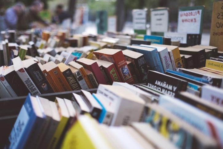 libreria, collezione, libri, libri di testo
