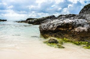 rochers, océan, mer, baie, plage, côte, été