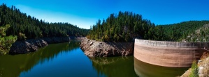 forest, lake, reservoir, dam, water, woods