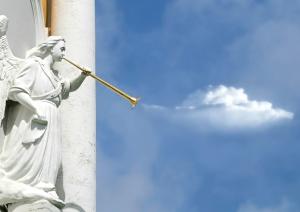 angel, horning, art, statue, horn, music, sculpture, architecture