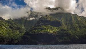 sea, sky, water, green, mountain