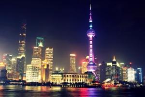 centre-ville, nuit, crépuscule, urbain, paysage urbain, architecture, lumières