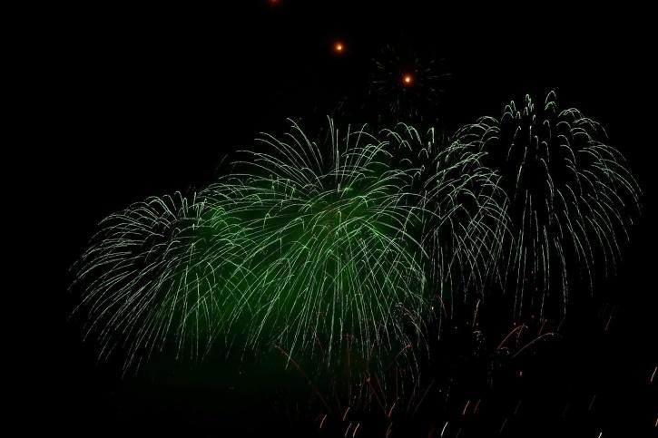 feux d'artifice, lumière, nuit