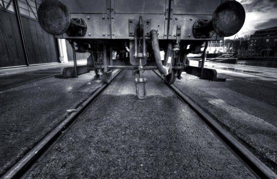 industria, rotaie, treno, strada, trasporto, ferrovia
