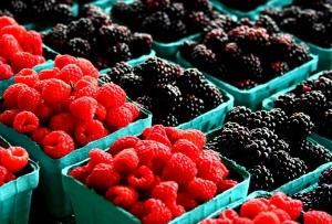 ブラックベリー、ラズベリー、果物、新鮮な果物、ビタミン、甘い、ブルーベリー、デザート
