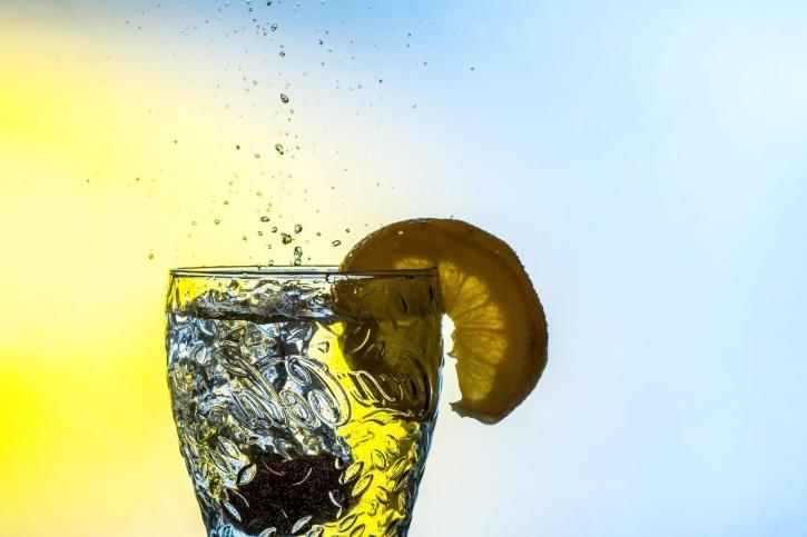 läsk, juice, vatten, dryck, glas, is, citron, flytande