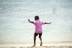 beach, boy, child, coast, sand, sea, summet, childhood